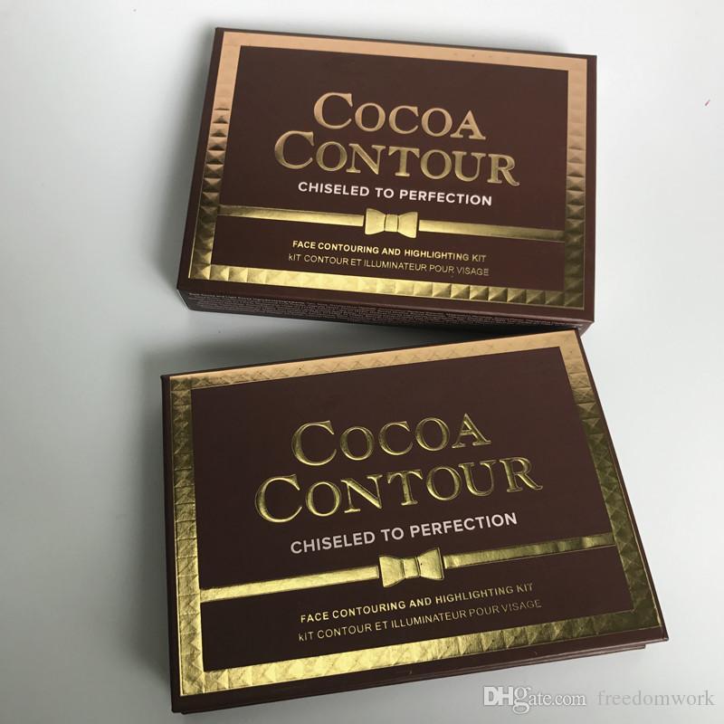 COCOA Contour Kit Highlighters Paleta Cor Nua Cosméticos Rosto Concealer Maquiagem Sombra de Chocolate com Contorno Buki Escova melhor