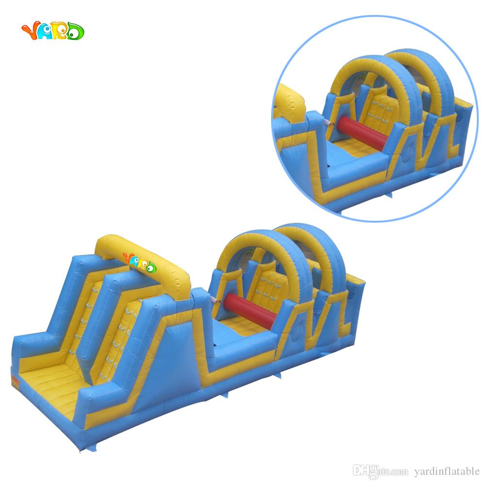 PVC Commercial Fast Shipping Races Challenge Kids Inflatable Obstacle Course Slide Combo with Free Powerful Blowers
