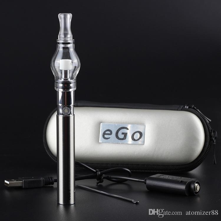Electronic cigarette glass globe tank for wax vapes pen ego-t battery dry herb wax vaporizer Pen M6 EGO-T Zipper case starter kits vapes