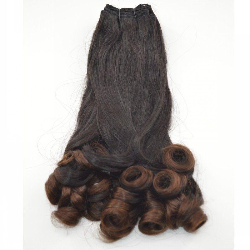 Ombre Hair 3 piezas de tía Funmi Hair Funmi de Malasia rizado Weave 1B / 30 de dos tonos de extensiones de cabello humano G-EASY