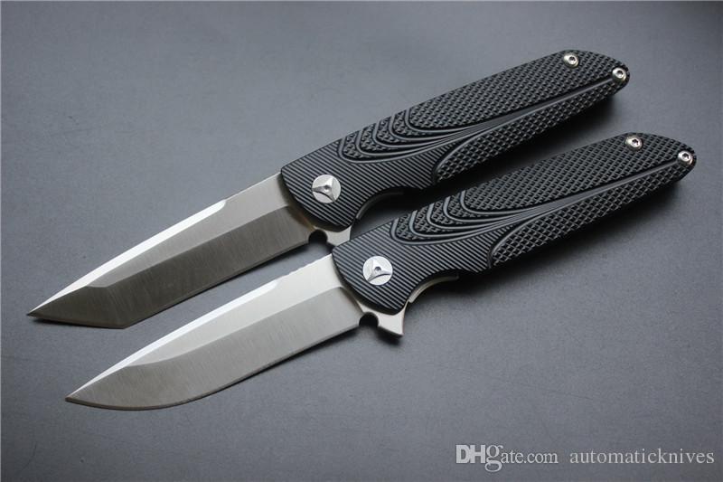 Coltello chiudibile Brian Nadeau di alta qualità, lama diritta D2 nera, coltello pieghevole nero caccia manico pieghevole