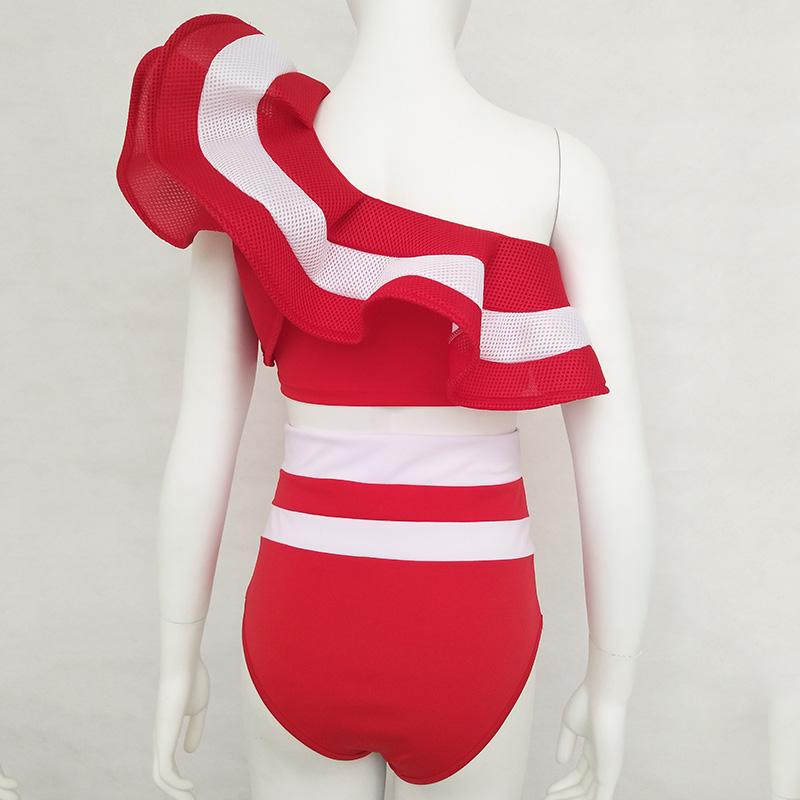 JessicaCHE 2020 Newest Bikini Set Off the Shoulder Ruffle Swimwear Off the Ruffle for Women Bathing Suit Beachwear Sexy Lady Swimsuit