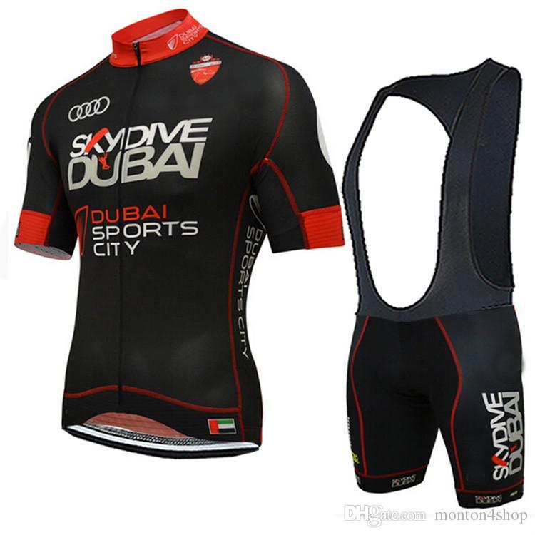 2019 Pro team Skydive DUBAI bisiklet formaları yaz Bisiklet maillot nefes MTB Kısa kollu bisiklet bez Ropa Ciclismo