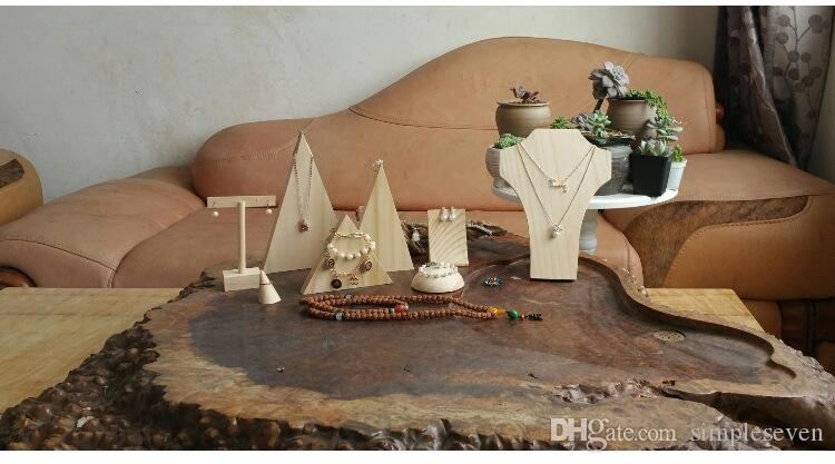[Simple Seven] Muji Style Jewelry Earring T Shape Display High Quality Natural Wooden Earring studs Trays