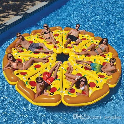 2017 Pizza Style Inflatable Pool Float Water Toys Inflatable Giant Pizza  Slice Swimming Pool Toy Sleep On Float Vs Rainbow Pool Float From Royalsz,  ...
