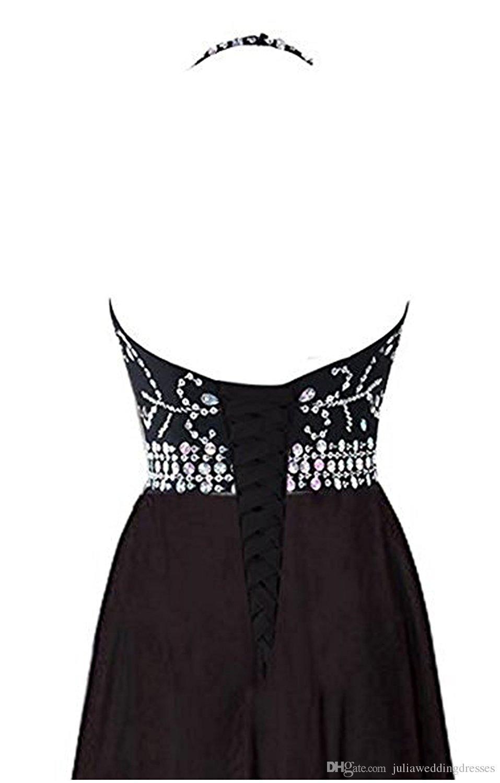 2018 Date Hot Sale Sexy Halter Gradient Robes De Bal Avec Longue Mousseline De Soie Plus La Taille Ombre Robes De Soirée De Soirée Formelle Robe De Soirée