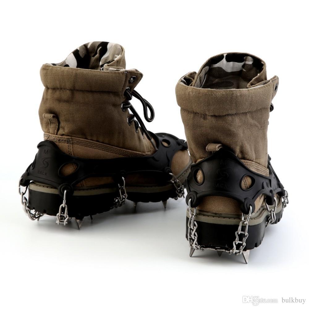 TPR 하이킹 견인 클리트 / 스테이플 들어 눈과 얼음 18 치아 스테인레스 스틸 신발 클리트 스테이플 도매 체인