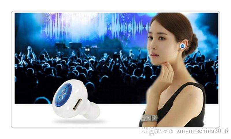 NEW Universal Mini Wireless Bluetooth Headphone In Ear V4.0 Stealth Earphone Phone Headset With Mic Handfree For S6/S7 NOTE5 for iphone 5
