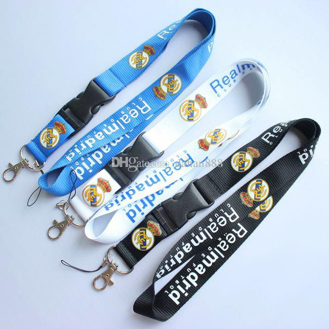 Wholesale Popular Removable football team Mobile phone Lanyard Key Chains Pendant Party Gift Favors Q-066