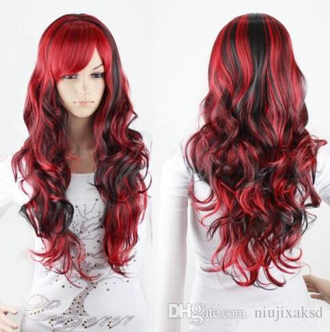 Black and Red Wigs Halloween
