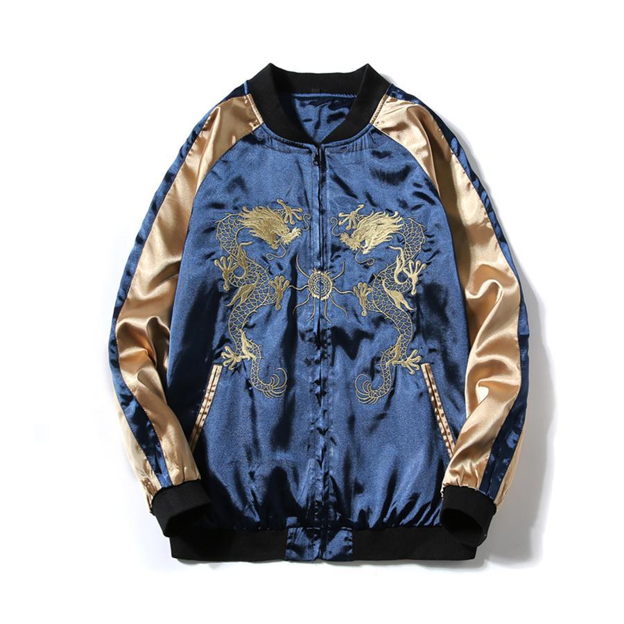 Wholesale Dragon Bomber Jacket Men Jacket Coat Casual Mens Jackets ...