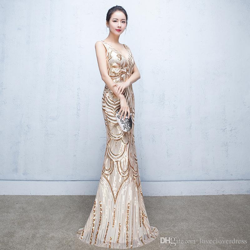 Designer Prom Dresses: Evening Dresses 2017 Luxury Designer Prom Dress V Neck