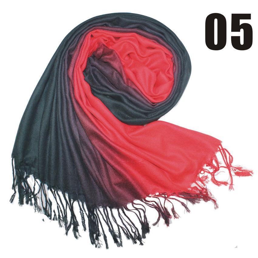 2017 36 Couleurs Chaud Slae Deux Couleurs Pashmina Cachemire Solide Châle Sac Lady Dames Foulard Doux Franges Solide Écharpe W003