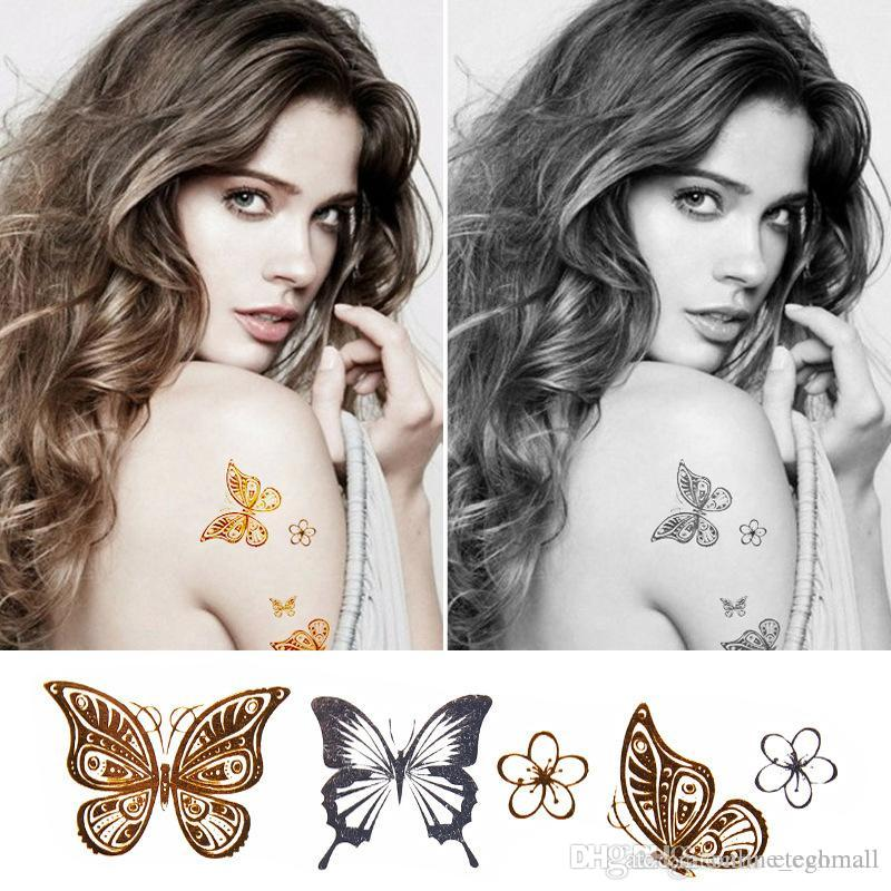 Body Paint Makeup Gold Tattoo Flash Tattoos Temporary Tattoo ...