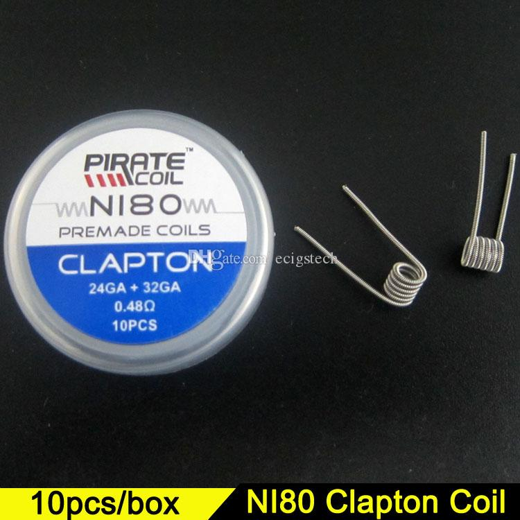 Großhandel N80 Clapton Vorgefertigten Spulen Flache Verdrillte Draht ...