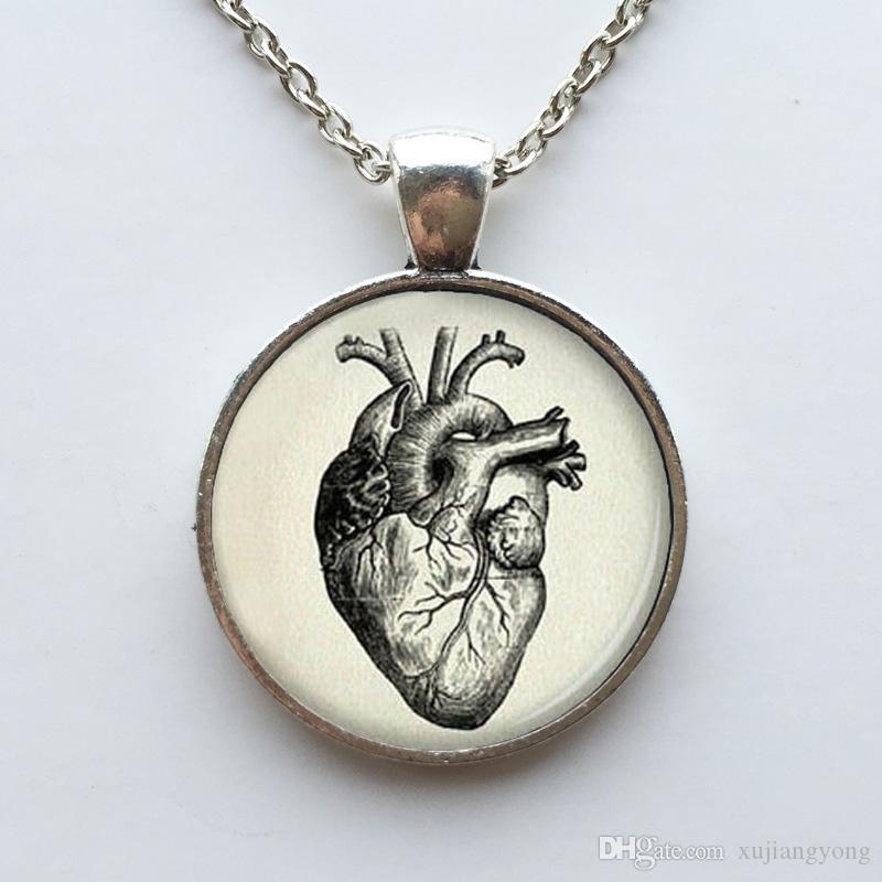 Anatomisches Herz des freien Verschiffenhalloween-anatomischen Herzanhängers anatomische Herzhalskette für Männer