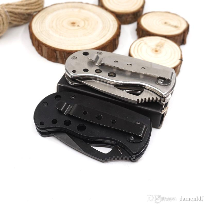 Mini Folding Tactical Knife Survival Pocket Knives High Quality Mini Subcom Black 440 Stainless Steel Outdoors Camping EDC Tools