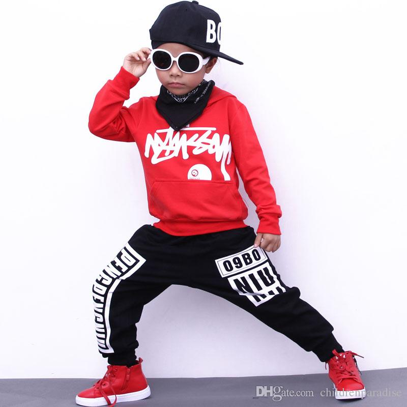 05446269e Girls Sport Suit Spring Autumn Boys Clothing Set Teenager Boy Dance ...