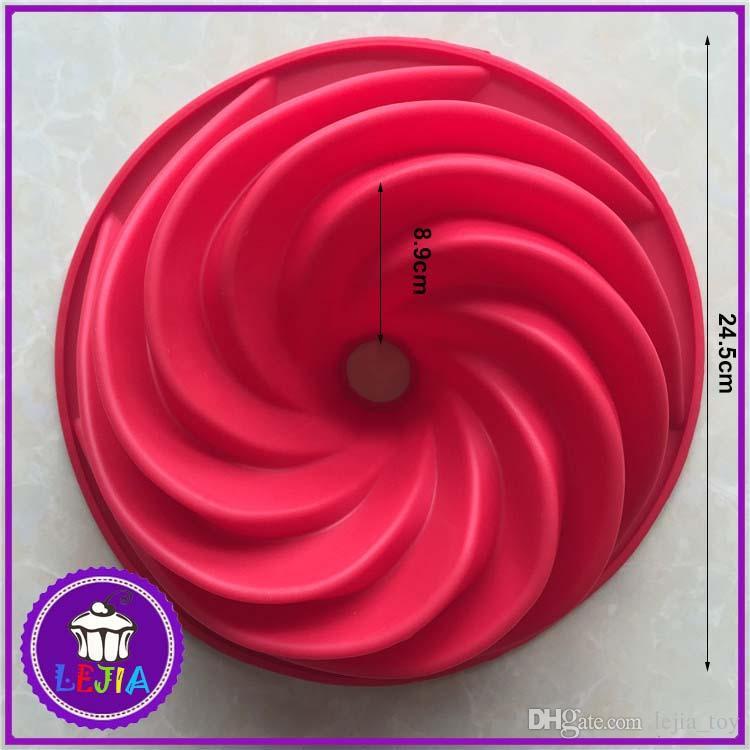 maelstrom shape 1 holes Silicone Mold Cake Decoration tools Food Grade cake Moulds baking bakeware