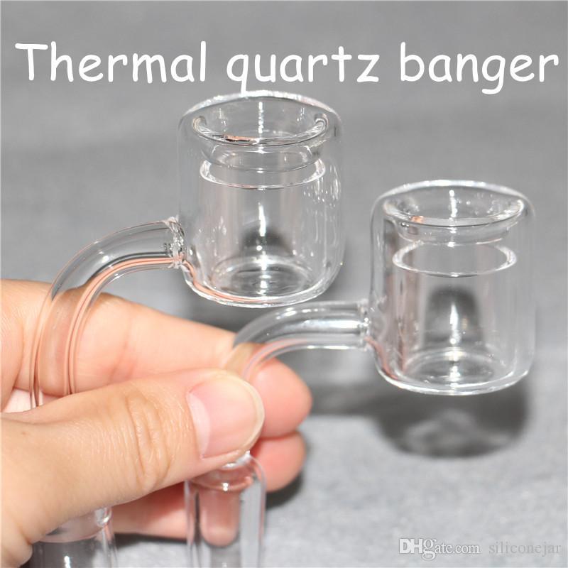 XXL кварцевые терморангарежные кальяны 10 мм 14 мм 18 мм двойной трубку кварцтехермальных банков-гвозди для стеклянных водных труб.