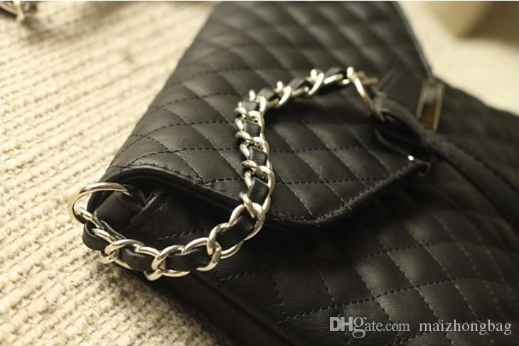 Hot style handbag Diamond Lattice lines chain bag Europe and the United States small sweet wind worn single shoulder bag