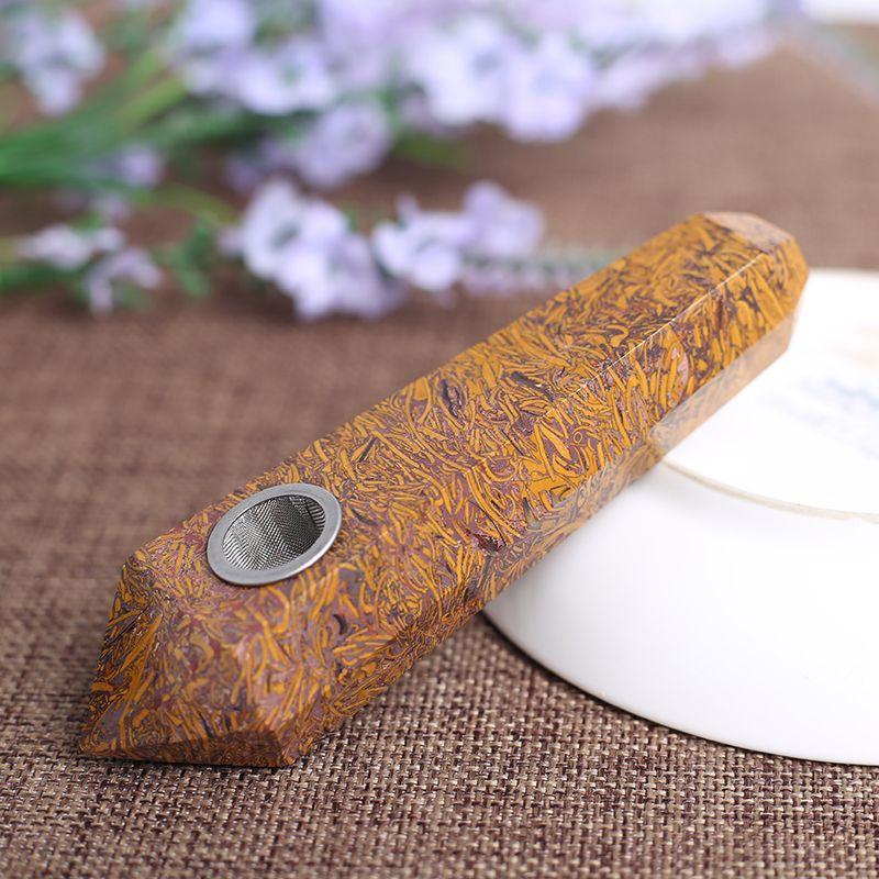 RREE SHIPPING HJT Vente en gros de pipes à tabac sur mesure modernes et naturelles GEMSTONES CRISTAL quartz baguettes de tabac Pipes curatives POUCH GRATUIT