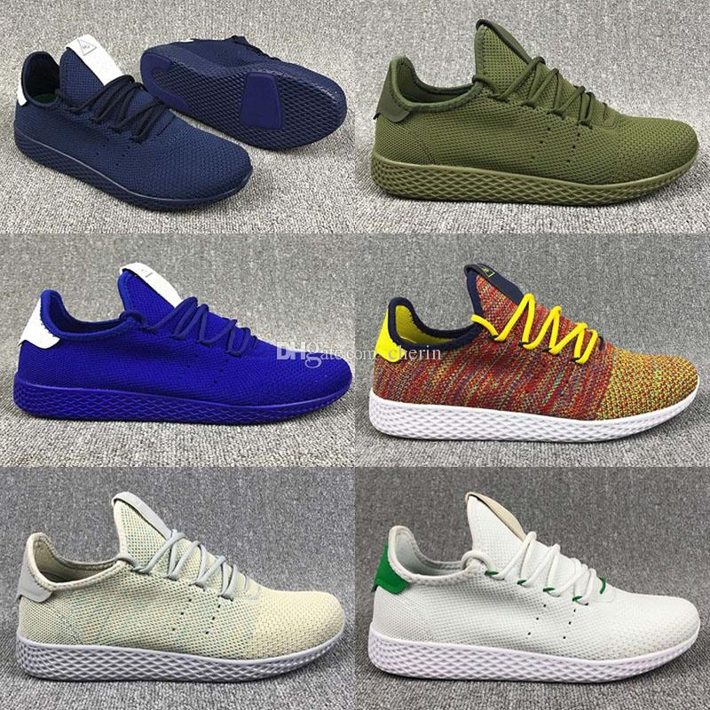 Originals Pharrell Williams x Stan Smith Tennis HU Primeknit men women Running Shoes Sneaker NMD Boost Runner sports Shoes us 5 11
