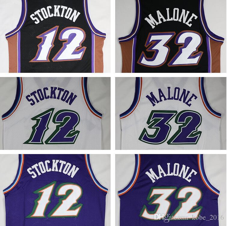 timeless design bb36a 63436 utah jazz 12 john stockton mountain purple swingman ...