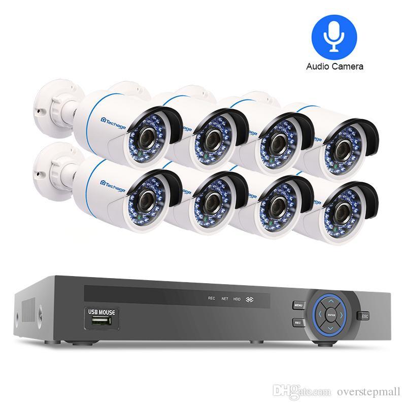 8CH 1080P POE NVR CCTV System 2.0MP Audio Record IP Camera P2P ...
