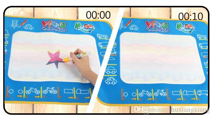2017 Factory Wholesale-New Aqua Doodle Children's Drawing Toys Mat Magic Pen Educational Toy 1 Mat+ 2 Water Drawing Pen W17JS508