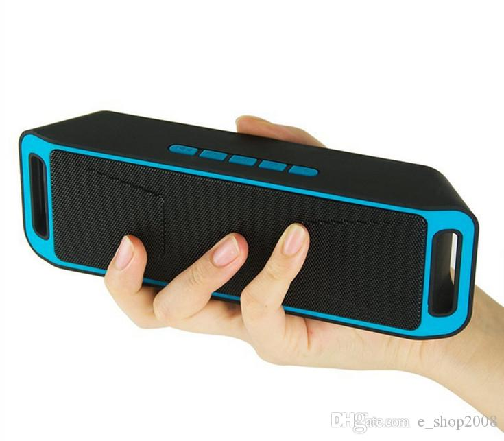 NEW SC-208 SC208 Mini Portable Bluetooth Speakers Wireless Smart Hands-free Speaker Big Power Subwoofer Support TF and USB FM Radio
