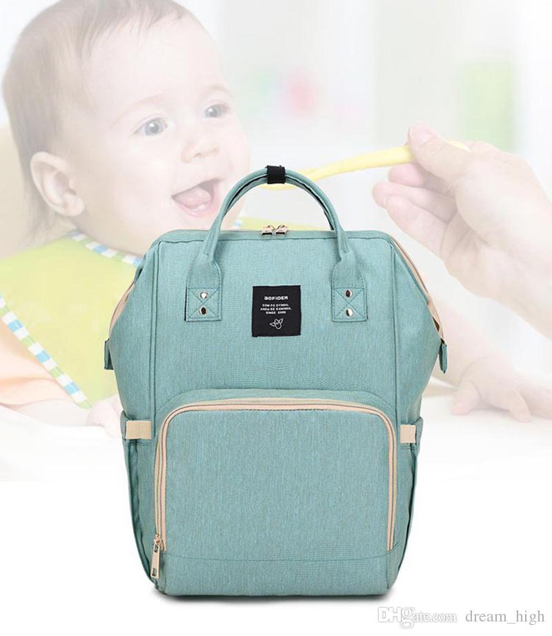 Moda Fralda Múmia Saco de Fraldas Maternidade Marca Grande Capacidade Do Bebê Saco de Viagem Ao Ar Livre Mochila Designer de Enfermagem Saco Organizador Para Cuidados Com o Bebê