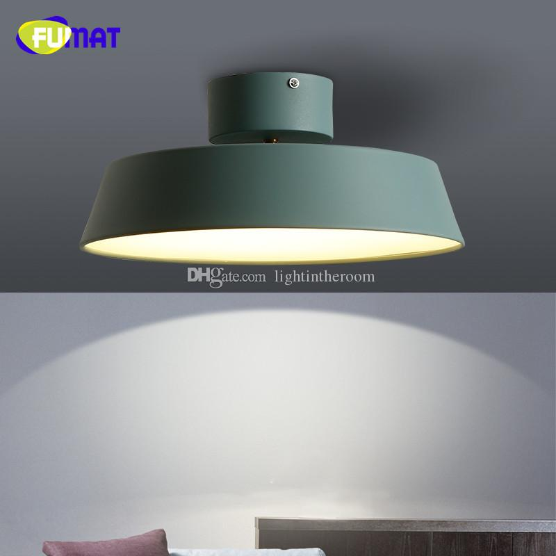 Fumat nordic modern minimalist creative lid ceiling lamps dinning room bedroom kitchen round led metal ceiling light rotatable ceiling lamp rotating