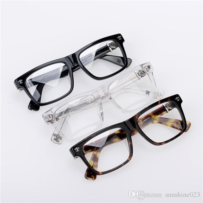 Brand-2017 Chrome Box lunch-a Oculos De Grau miopia Óculos Miopia Quadro Men Eye Glasses Mulheres Óculos de Marca Japão Moldura Óptica