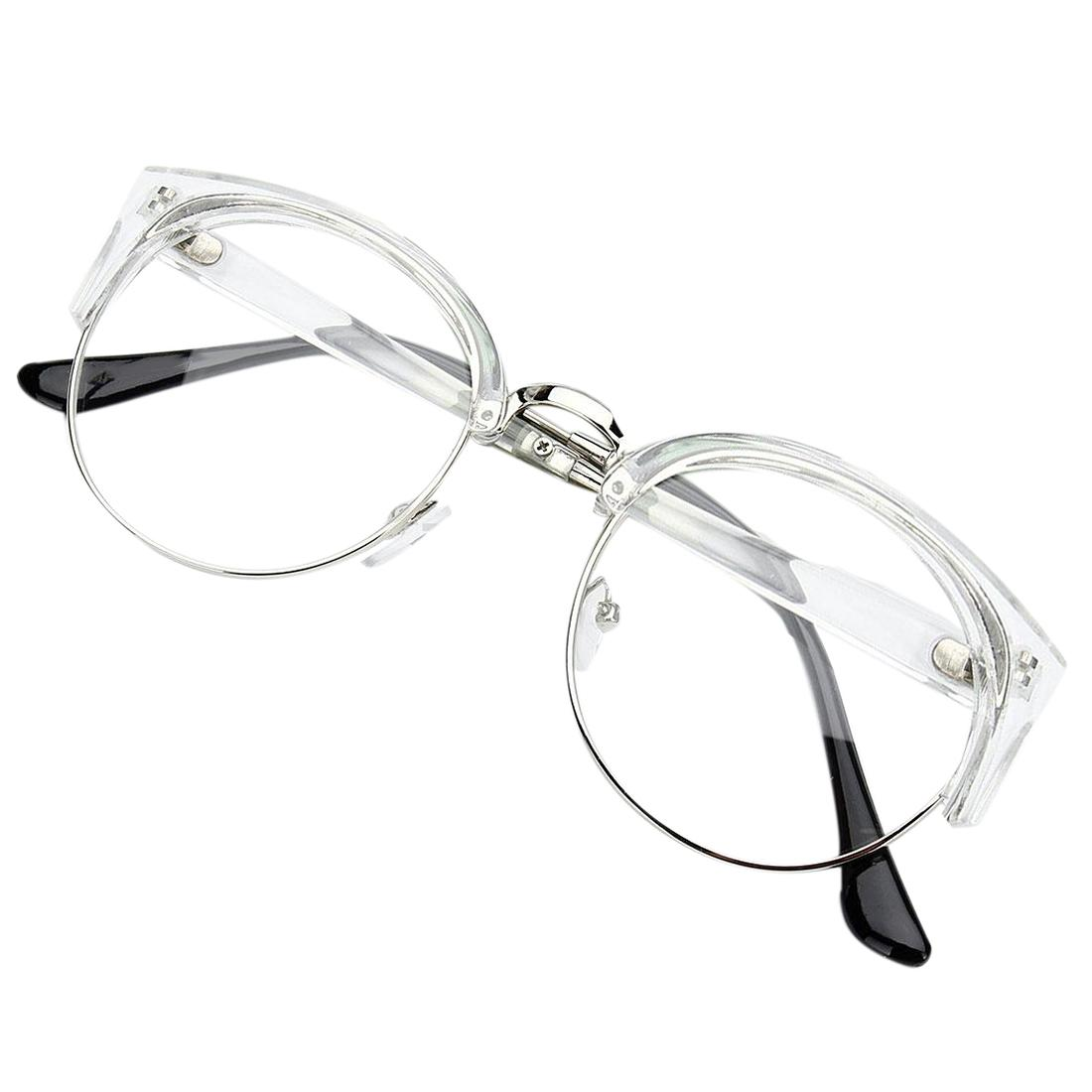 6912ee0c98 Wholesale Retro Style Women Men Round Nerd Glasses Clear Lens Eyewear Metal  Frame Glasses Colors Transparent White+Silver Frame Cheap Sunglasses Mens  ...