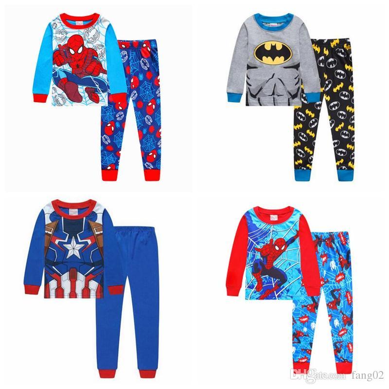 Aby Boys Sleeping Suits Pyjamas Sets Long Sleeve Autmn Winter Kid Cotton  Home Sleepwear Nightgown Children S Pajama Set Kids Silk Pajamas Kids  Footie ... a80776bb0