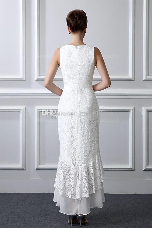 2 peças rendas formais mãe da noiva ternos de mangas compridas bainha alta baixa plus size vestido de mãe com casaco vestidos de noite barato