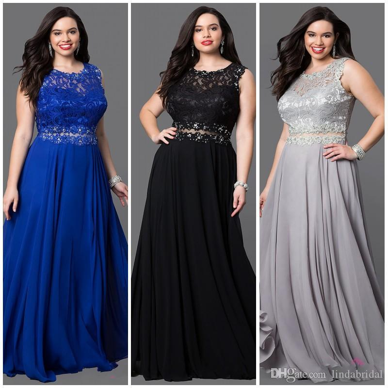 Cheap Plus Size Prom Dresses Lace 2018special Occasions Evening ...
