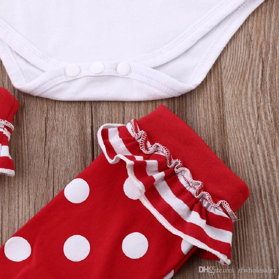 Weihnachten Kleinkind Strampler Anzug Neugeborenes Baby Boutique Grils Kleidung Säuglingsspielanzug Legging Wärmer Pyjamas Nachtwäsche Trikots Neujahr Overall