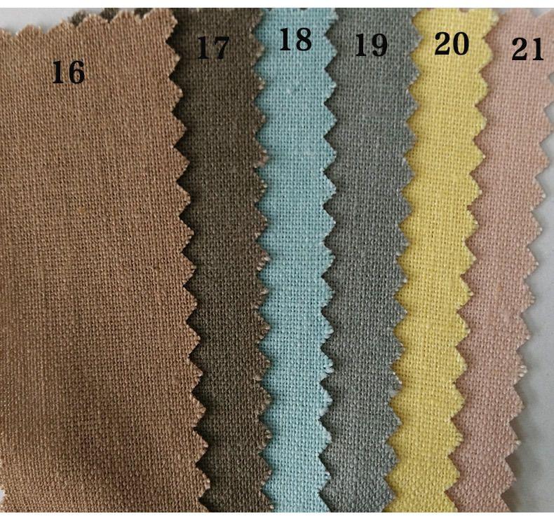 5MHot Selling Wholesale Cheap Pure Color Linen-Cotton Plain Weave Cotton Fabric Crafts Decorative Cloth