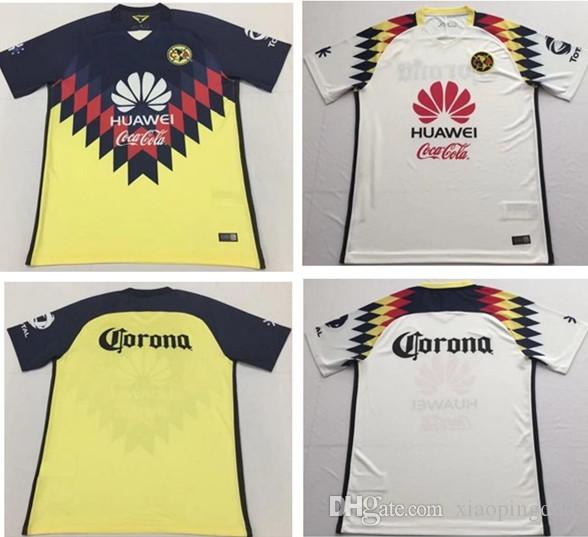 95d973435 ... blue  2017 2017 liga mx club america 17 18 home yellow black away white soccer  jerseys maillot