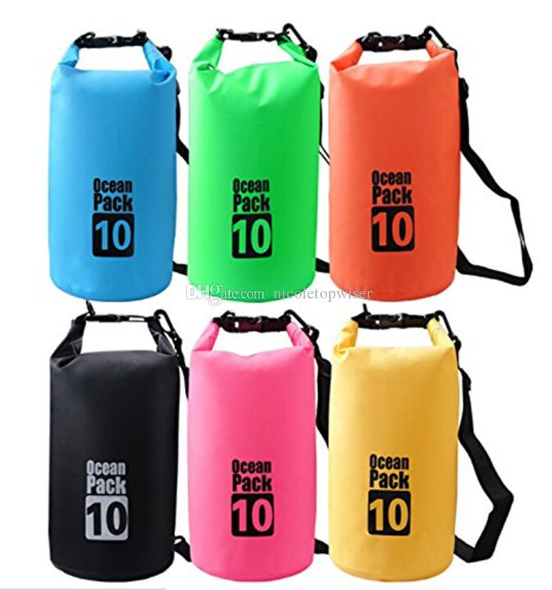 10L Waterproof Dry Bag Floating Gear Bags Ocean Pack for Boating,Kayaking,Fishing,Beach,Rafting,Swimming,Camping,Canoeing and Snowboarding