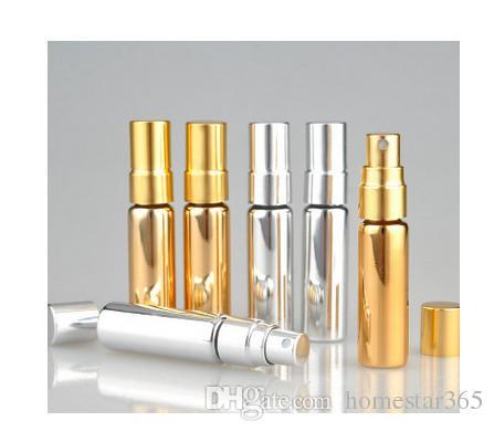 2017 new 5ml gold parfum travel spray bottle for perfume portable