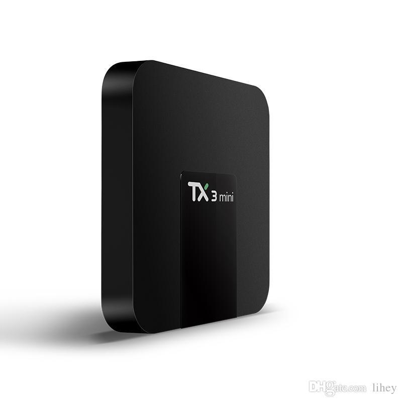 Original TX3 MINI 1 GB / 8 GB 2 GB / 16 GB Android 7.1 TV Box Suporte Amlogic S905W IPTV HDMI 4k Streaming Media Player