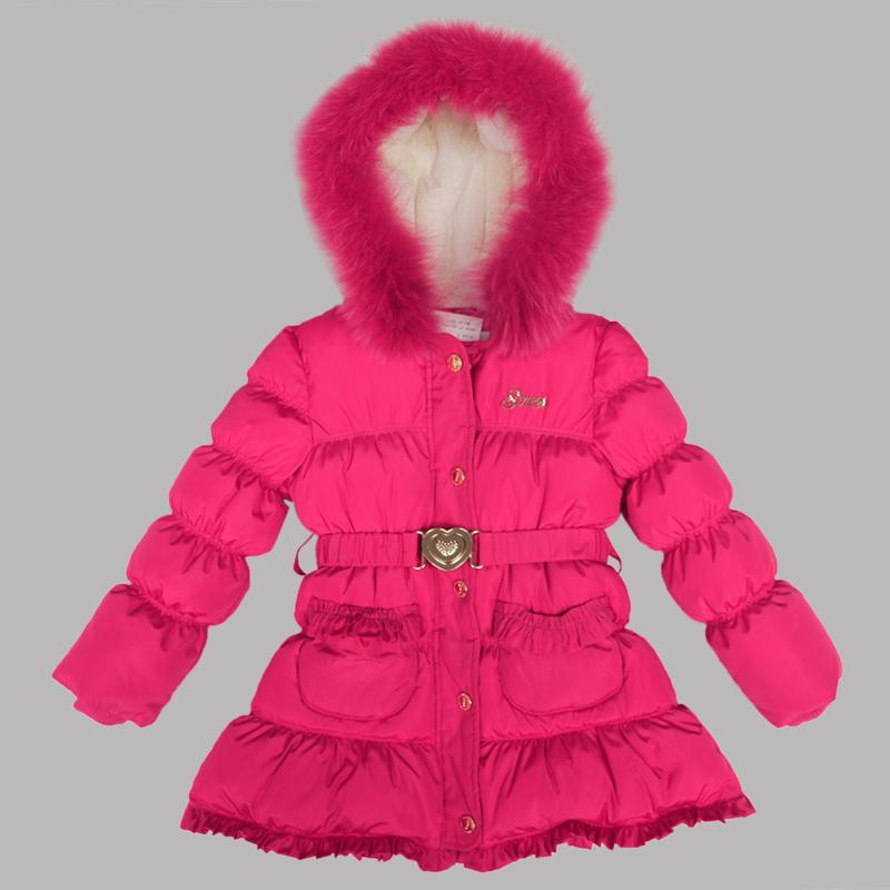 Girl 100% Down Winter Jackets Coat For 6 Age Long Extra Thick Warm ...