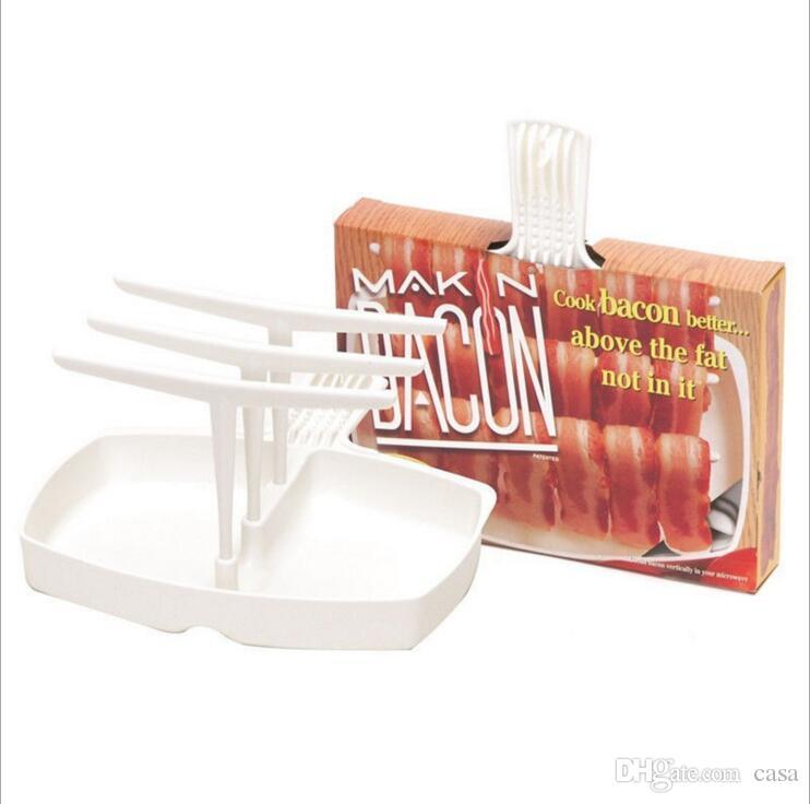 Microonde Makin Bacon Rack Hanger Cooker Vassoio Cook Bar Crisp Colazione Pasto Home Dorm carne appendini bacon gancio di cottura cremagliera con scatola