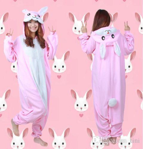 69485f55424bd Rabbit Kigurumi Pajamas Costumes Unisex Adult One Piece Long Sleeve  Homewear Cosplay Hoodie Pajamas Onesie Costume Night Sleepwear Jumpsuit  Cheap Cosplay ...