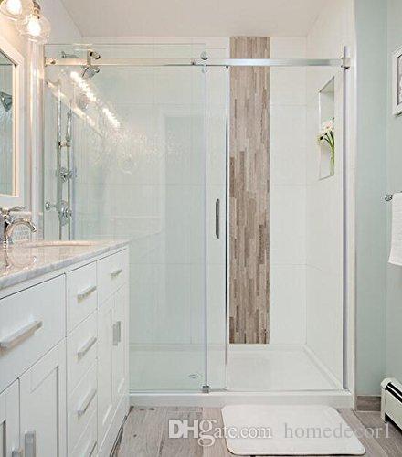 США Горячий Продавать 5FT Щеткой Обход из нержавеющей стали декор раздвижные душ сарай дверной фурнитуры душевая комната