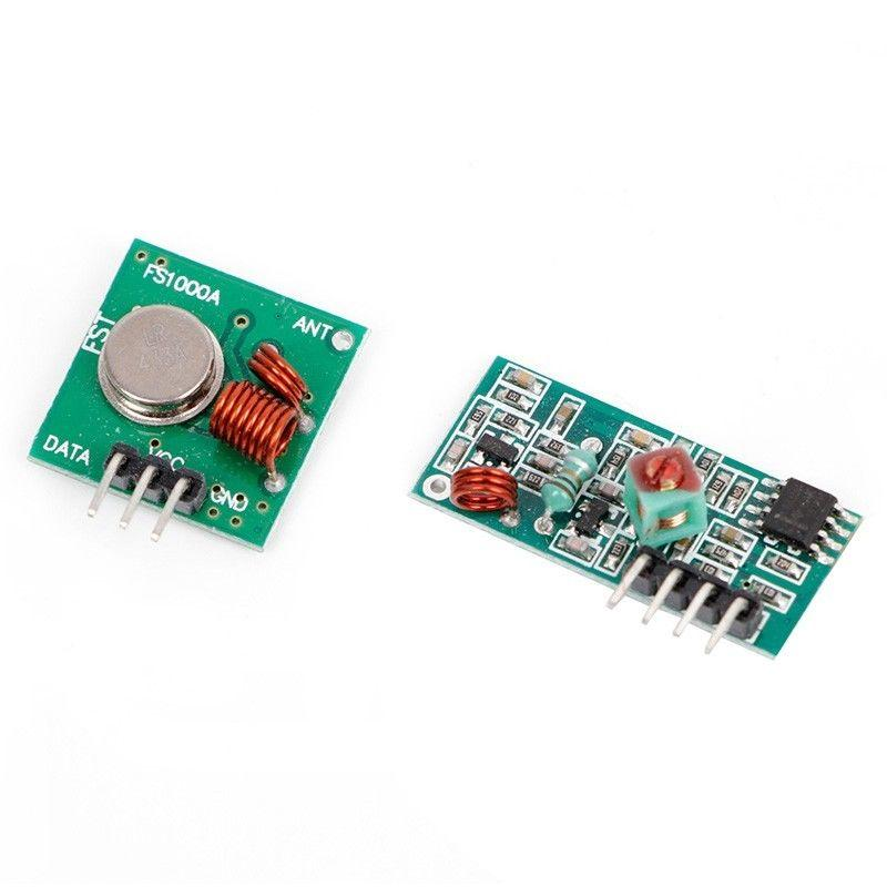 Wholesale- RF Wireless Transmitter Module 433Mhz W/ Receiver Kit For  Arduino Remote Control