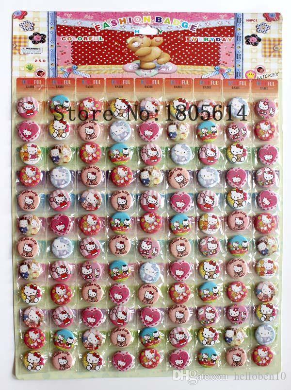 b47e87a76 2019 Hello Kitty Cartoon Tin Buttons Pins Badges,25MM,Round Brooch  Badge,Kids Toy Jkl From Helloben10, $18.6 | DHgate.Com